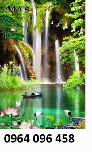 Gạch tranh mẫu phong cảnh thiên nhiên - KD12