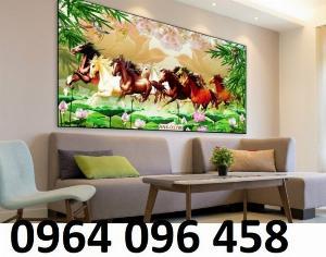 Gạch tranh 3d con ngựa - LƯ98