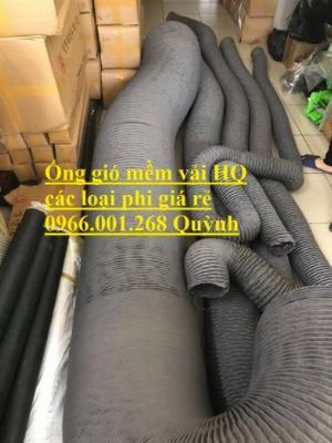 Phân phối ống gió mềm vải Hàn Quốc , Ống thông gió chịu nhiệt phi 100,phi 200,phi 300