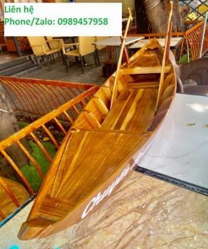 Thuyền gỗ 3m trưng bày nhà hàng, cửa hàng hải sản, hàng hoa tươi