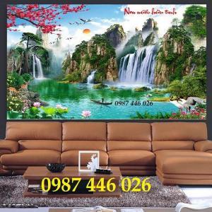 Tranh gạch 3d, tranh ốp tường trang trí HP1354