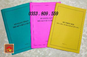 3 quyển Sổ giao nhận, Sổ theo dõi, Sổ đăng ký hồ sơ viên chức