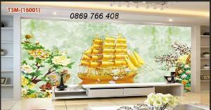 Tranh thuận buồm xuôi gió-gạch men 3D