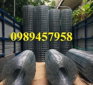 Lưới thép hàn mạ kẽm trang trí, Lưới thép phi 3 ô 25x25, 50x50, 100x100 khổ 1,5m