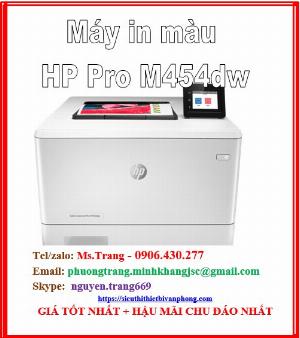 Máy in màu HP color laserjet pro m454dw giá siêu tốt nhất