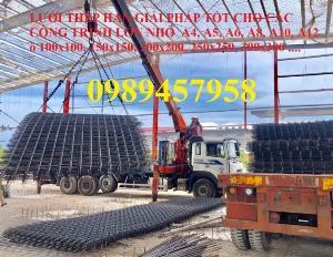 Chuyên sản xuất lưới hàn chập phi 6 đổ bê tông ô 100x100, 150x150, 150x200, 200x200, 250x250