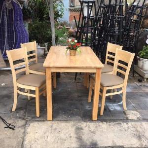 Thanh lí bộ bàn ghế gỗ phòng ăn giá rẻ