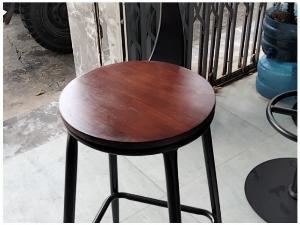 Ghế ba cao cấp mặt gỗ lưng sắc sơn tĩnh