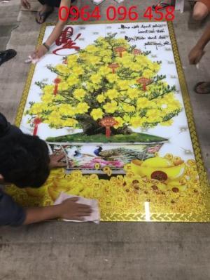 Tranh cây mia vàng - gạch tranh 3d cây mai - MD33