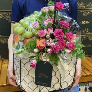 Giỏ trái cây kèm hoa - FSNK232