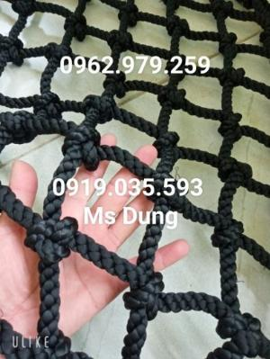 Lưới màu đen an toàn trang trí, lưới an toàn màu đen