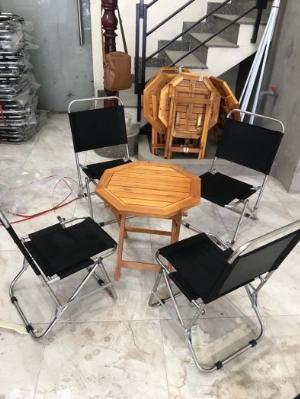 Bộ bàn ghế lưới xếp cf