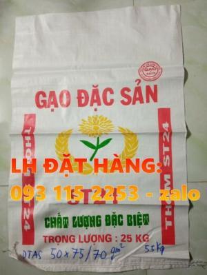 Bao lúa giống, bao đựng gạo có in, không in giá rẻ