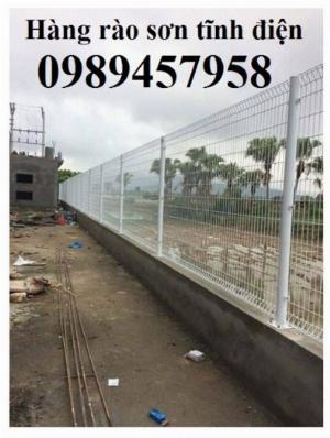 Hàng rào chấn sóng, hàng rào gập 2 đầu lưới, hàng rào lưới thép hàn phi 5 50x150, 50x200 có sẵn
