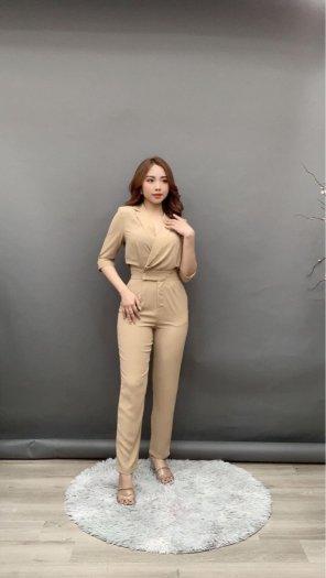 Jumpsuit thiết kế kiểu Vest tay lỡ Hàn Quốc SG