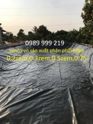 Màng 0.5zem cuộn 250m2 Chống Thấm Nhựa Đen 2 Mặt Hdpe sunco2021
