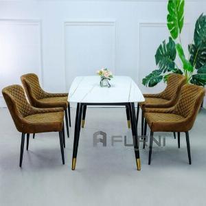 Bộ bàn ghế ăn đẹp mặt đá 4 ghế TN SALA-14E/ECO 2A-P nhập khẩu TpHCM