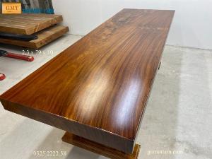 Bàn làm việc, bàn ăn gỗ tự nhiên nguyên tấm dài 2,3m x rộng 79cm x dầy 10cm
