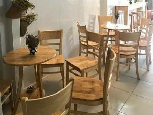 Bộ cabin gỗ cafe giá xuất xưởng rẻ