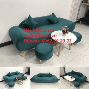 Bộ bàn ghế sofa sopha văng băng thuyền xanh lá cổ vịt giá rẻ Nội thất Linco Sài Gòn