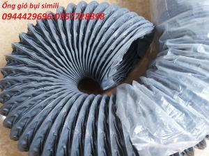 Ống hút bụi vải bạt simili phi 75 màu ghi hàng sẵn kho