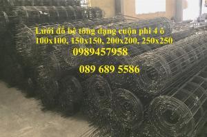 Lưới thép hàn phi 4 dạng cuộn ô 50x50, 50x100, 100x100, 50x200, 200x200 giá rẻ tại Hà Nội