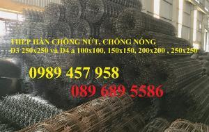 Lưới thép hàn phi 4 ô 50x50, 50x100, 100x100, 50x200, 200x200 Lưới thép có sẵn