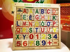 Bảng chữ cái Tiếng Việt xoay sáng tạo đồ chơi gỗ