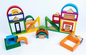 Bộ cầu vòng | Xây dựng xếp hình khối 3D Xuất Khẩu