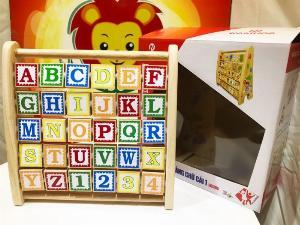 Bảng chữ cái tiếng anh khung xoay bằng gỗ xuất khẩu Nhật