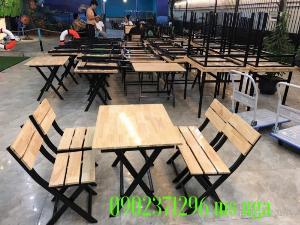 Bàn ghế gỗ quán nhậu giá rẻ tại xưởng