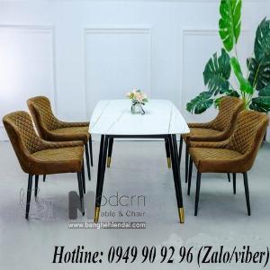 Bộ bàn ghế ăn chữ nhật 1m4 Sala Eco cho căn hộ hiện đại ở HCM