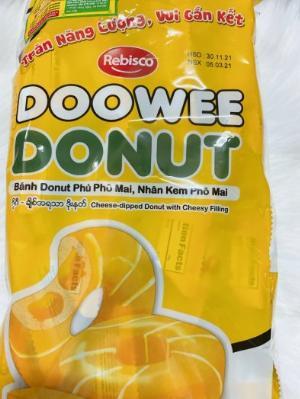 Bánh donut phủ phô mai, nhân kem phô mai