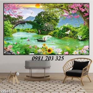 Gạch tranh phong cảnh, tranh đẹp trang trí phòng