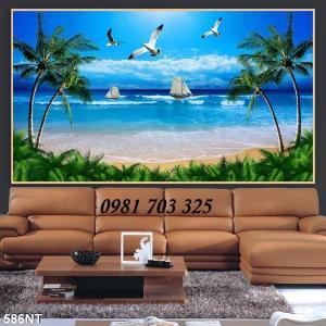 Gạch tranh phong cảnh, tranh 3D cảnh biển đẹp