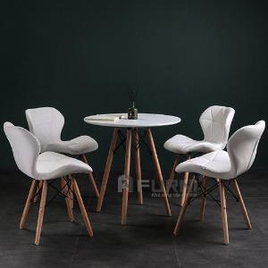 Bộ bàn ghế ăn 4 ghế tròn 80 cm hiện đại giá rẻ TE DSW-08W/ CC1545-P TpHCM
