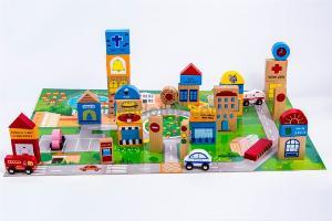 Đồ chơi gỗ mô hình thành phố tương lai nhập vai sáng tạo