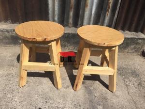 Ghế đôn gỗ cafe nhỏ xinh