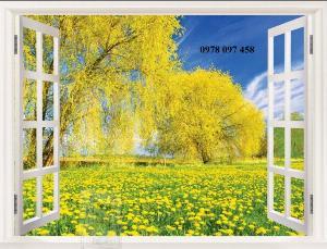 Tranh 3D - tranh khung cửa sổ