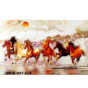 Tranh phong thủy - gạch tranh - tranh ngựa