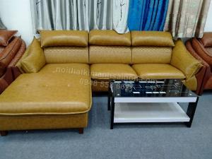 Sofa da cao cấp phòng khách Binh Dương, phong cách Á-Âu giá rẻ tại xưởng