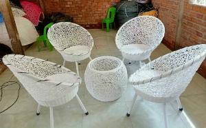 Bàn Ghế Cafe Mấy Nhựa Đan Rối Giá Rẻ tại tphcm