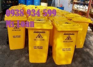 Thùng rác 240 lít,thùng rác nhựa 240 lít,thùng rác môi trường 240 lít
