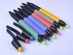 Bút bi có đầu highlight dạ quang in logo