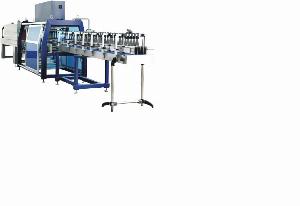 Máy đóng màng co log 24 chai tự động, máy cắt dán màng co log chai tự động