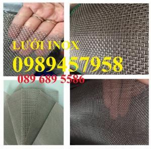 Bán Lưới chống côn trùng , Lưới inox304 lọc dầu, Lưới dệt inox 304 dây 0,5mm, 1mm, 2mm