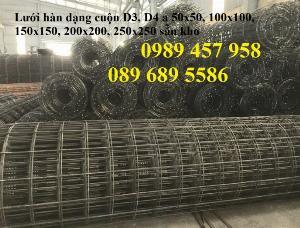 Bán Lưới đổ bê tông phi 3 chống thấm và chống nứt , Lưới thép hàn phi 4 50x50, 100x100