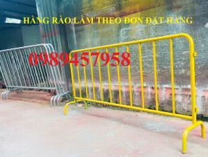 Gia công hàng rào kiểm soát đám đông, hàng rào an ninh, hàng rào chắn