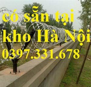 Thép gai hình dao, thép tường rào, thép gai mạ kẽm DK 35cm hàng sẵn kho tại Hà Nội