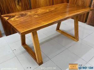 Bàn gỗ me tây nguyên tấm dài 1,6 x 75 x 5